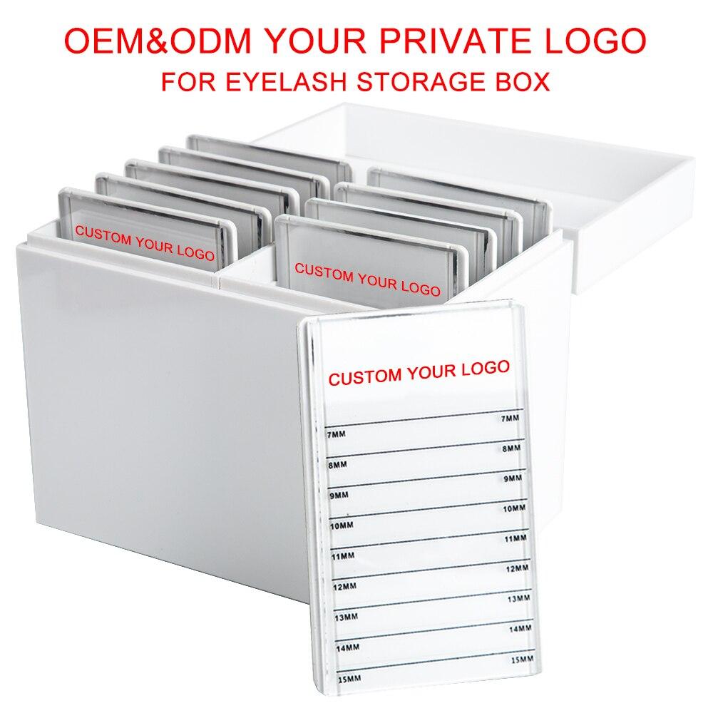 camadas oem odm logotipo privado acrílico organizador