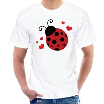 T Shirt Inktastic Lady Bug ve kalpler kadın T-Shirt uğur böceği sevgilisi böcekler için sevimli yeni moda Tee gömlek 2796Y