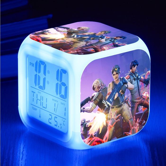 Аниме игра battle royale фигурка светящаяся светодиодная красочная вспышка будильник настольная подсветильник ка с температурой экшн-игрушка дл...
