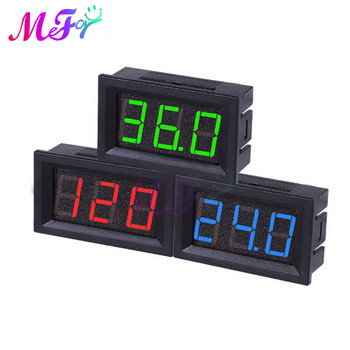 Digital Voltmeter DC 5V to 120V Digital Voltmeter Voltage Panel Meter Red/Blue/Green For 6V 12V Electromobile Motorcycle Car image