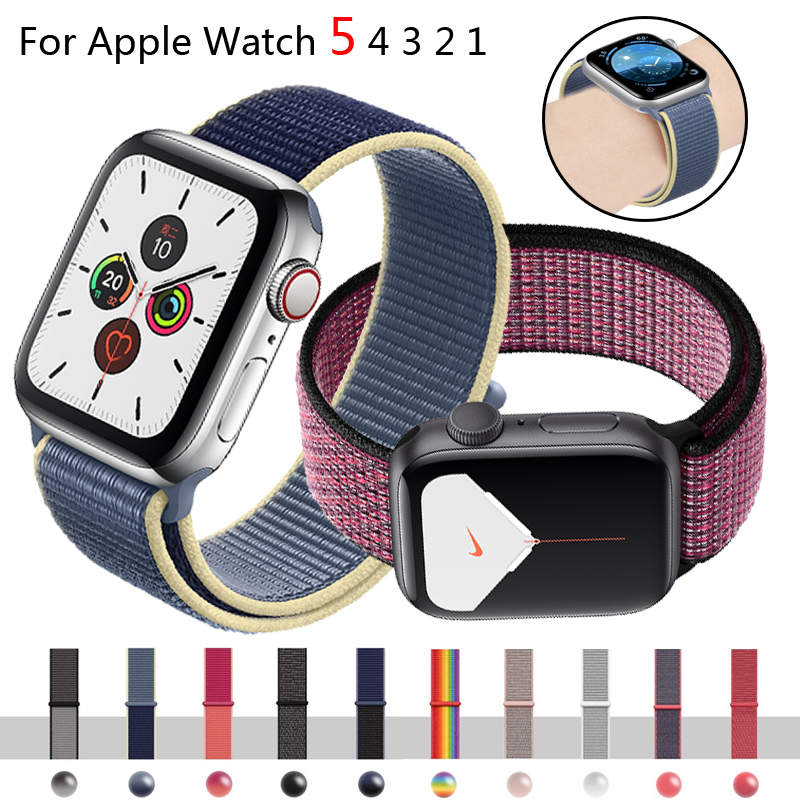 Strap For Apple Watch Band Apple Watch 5 44mm 40mm Sport Loop Bracelet Breathable Iwatch Series 5 4 3 42mm 38mm Nylon Watchband