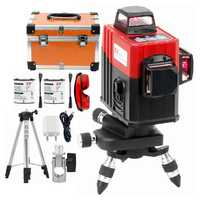 KaiTian 3D Laser Level Tripod 360 Rotary with Outdoor Tilt Function Self-Leveling Red Cross 12Lines Level livella Lasers Bracket