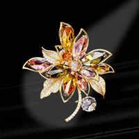 SINZRY HEIßER trendy schmuck bunte zirkonia dazzling blume elegante anzug brosche pin Koreanische stilvolle jewel