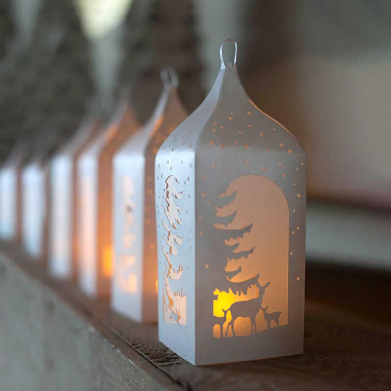 Lanterna de natal scrapbooking metal corte dados nova árvore veados artesanato dados corte para diy cartão de papel que faz selos e dados