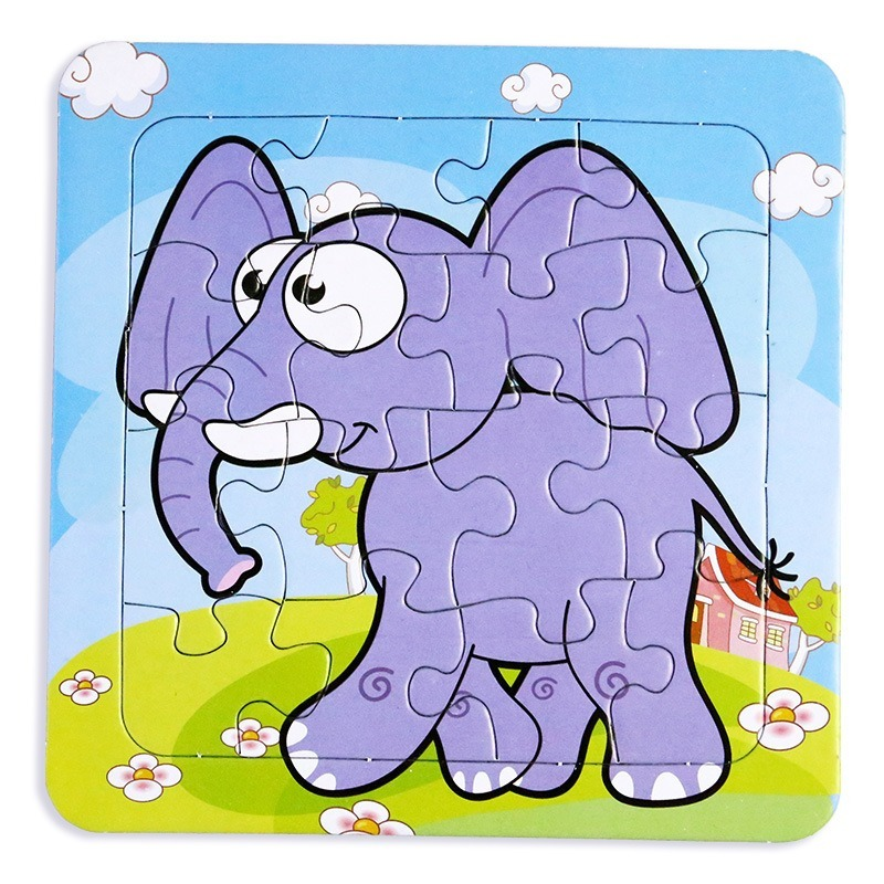 Kids Puzzle Toy Cartoon Dinosaur Animals And Vehicle  Puzzles Jigsaw Baby Educational Learning Toys  Puzzles For Kids