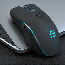 CHOTOG Wireless Mouse Bluetooth 5.0+2.4G Gaming Computer Mouse gamer Eergonomic 2400DPI Optical Professional Mouse For PC Laptop