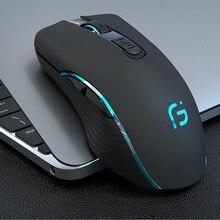 CHOTOG ratón inalámbrico Bluetooth 5,0 + 2,4G, para Gaming, ergonómico, 2400DPI, ratón óptico profesional para PC y portátil