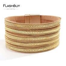 Flashbuy новые модные золотые Цвет браслеты с подвесками в виде