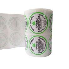 2020 Nieuwe Trend 1.5 Inch 500 Pcs/Roll Waarschuwing Stickers Zelfklevende Etiketten Medische Waarschuwing Label Voor Waarschuwing En Indicatie
