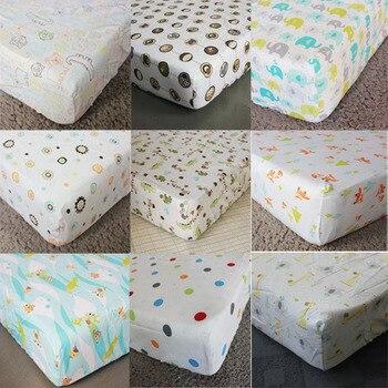100% Cotton Baby Beddings Mattress Cover Cartoon Newborn Bed Sheet Crib Fitted Sheet Factory Direct Sale Drop Shipping Brand sweet jojo designs elizabeth fitted crib sheet