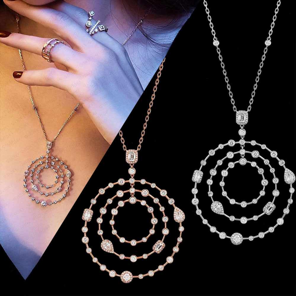 GODKI Lucky Circle Necklace Earring Set Jewelry Set For Women Wedding Party Full Cubic Zircon Dubai Bridal Jewelry Set 2020