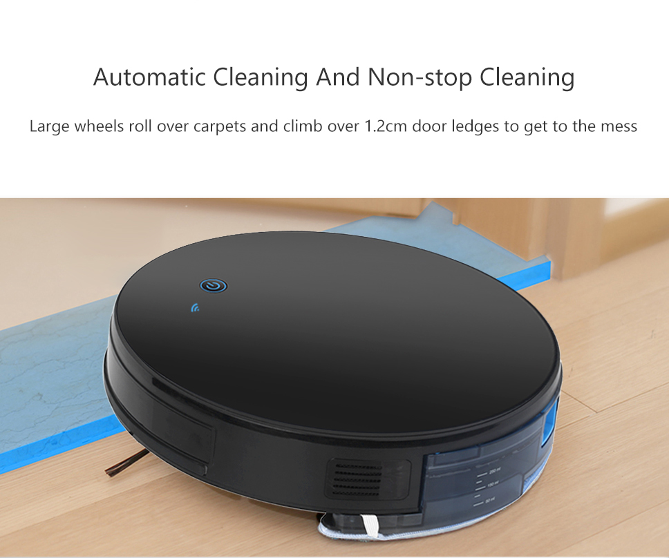 H74750242e6164c4383373eee8a0a1bbeA Home Intelligent Sweeping Robot App Remote Control Wireless Vacuum Cleaner Smart Wiping Machine Automatic Refill Floor Cleaner