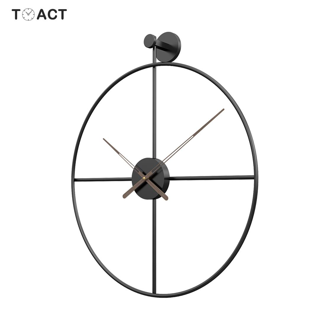 Large Wall Clock Modern Design Clocks For Home Decor Office Iron Art Watches European Style Hanging Wall Watch Christmas Gift