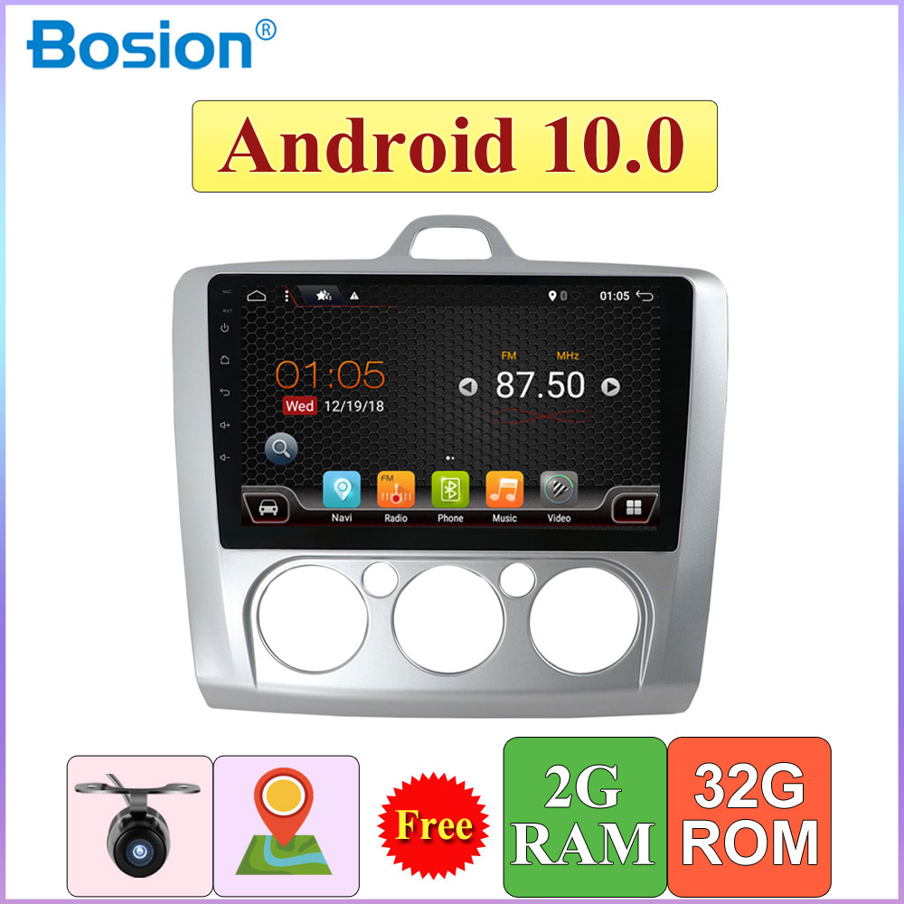 2 Din Android 10 <font><b>Auto</b></font> <font><b>Radio</b></font> Quad Core 9inch For <font><b>Ford</b></font> <font><b>Focus</b></font> 2006-2011 Car Multimedia Player GPS Stereo Audio Head unit image