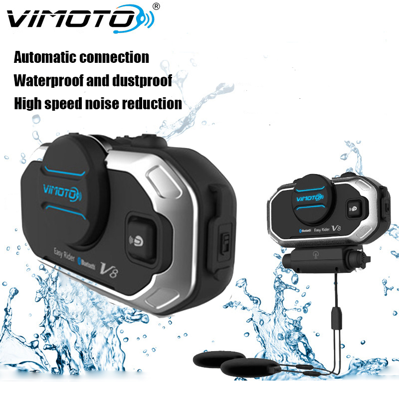 NEW VIMOTO Easy Rider Vimoto V6/V8 Helmet Bluetooth Headset Motorcycle Stereo Headphones 2 Way Radio For Mobile Phone GPS