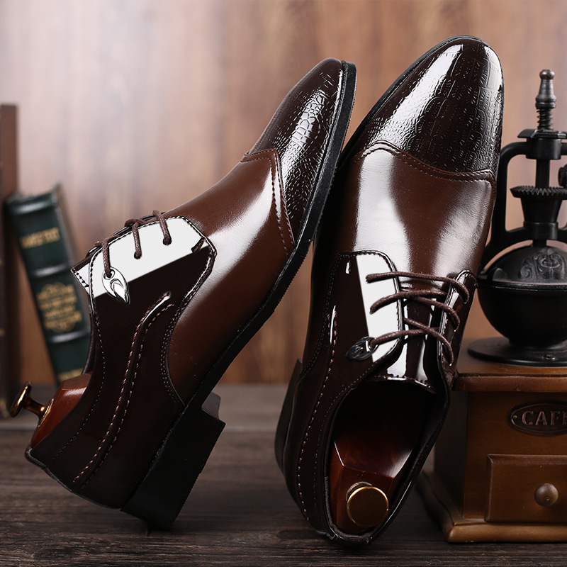 Luxury Business Oxford Leather Shoes Men's Breathable Rubber Dress Shoes Men's Office Wedding Flat Shoes Fashion Casual 38-48