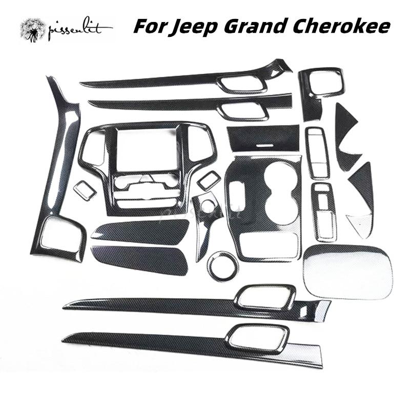 Accessoires de voiture en plastique Fiber de carbone, garniture de couverture pour 2Jeep Grand Cherokee Laredo Limited 2014 – 2018, accessoires ABS
