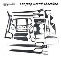 Accesorios del coche de plástico de fibra de carbono de superposición de adornos para 2Jeep Grand Cherokee Laredo limitado 2014-2018 accesorios ABS