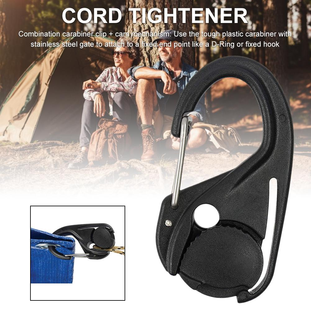 Suitable For Rope 2MM-5MM Diameter Card Lanyard Hook Without Lanyard Portable Binding Fixture CamJam Cord Tightener Lightweight