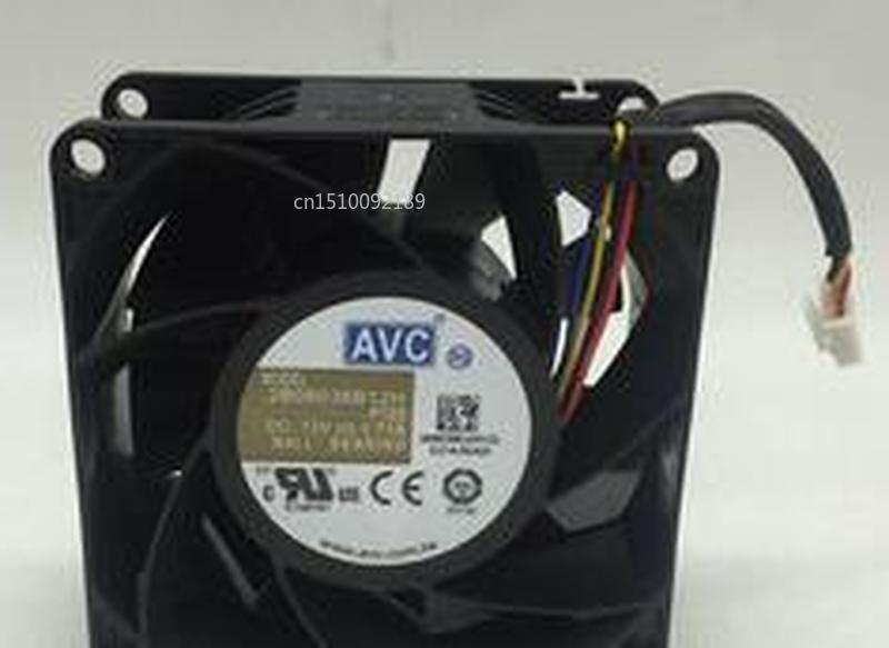 For Original AVC 2B08038B12H P122 8cm 8038 12V 1.71A Large Air Volume Server Cooling Fan Free Shipping