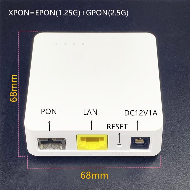 XPON Minni ONU 68MM XPON EPON1.25G/GPON2.5G G/EPON  English ONU FTTH modem G/EPON compatible router Version ONU MINI68*68MM