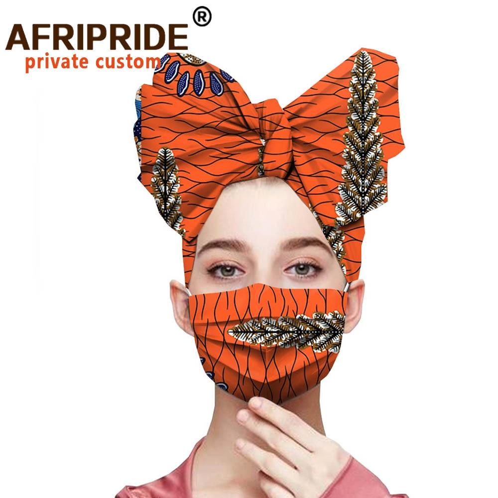 African Headwraps Ankara Print Cotton Headband Bonnet Headtie African Headscarf Mask Match Print Wax Batik Pure Cotton A20H001B