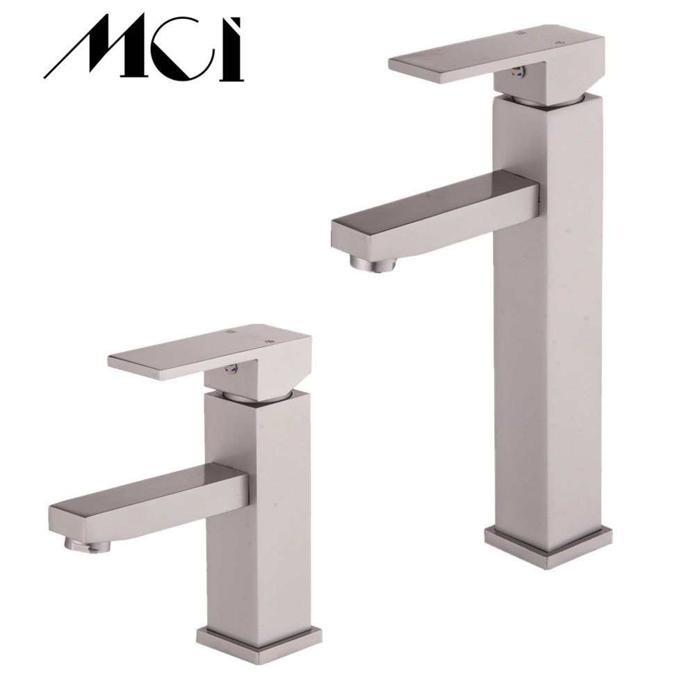 Bathroom sink faucet cold and hot bathroom faucet chrome water mixer water tap aluminum basin faucet single handle