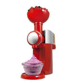 110-220V projekt DIY maszyna do lodów maszyna przenośny rozmiar do użytku domowego automatyczne mrożone owoce deser maszyna szybka wysyłka tanie i dobre opinie ICOCO 150 w 500 ml CN (pochodzenie) Homemade Ice Cream Machine Chłodzenie powietrzem 220*130*315mm EU Plug red white black