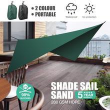 Yeahmart Shade Sail Awning Waterproof Portable Sun Shade Sail Outdoor Shade Garden Patio Car Sunscreen Awning Canopy UV Block