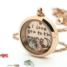 15% OFF!! 20/25/30MM Round Pendant Rose Gold Stainless Steel DIY Glass Photo Twist Screw Living Lockets For Christmas Gift