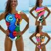 Halter Print 2021 Sexy Women One Piece Swimsuit Swimwear Female Brazilian Bathing Suits Bodysuit Beach Wear Backless Monokini 1