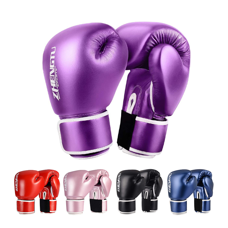 ZTTY Boxing Gloves Women Training PU Sanda Kickboxing Mitts Muay Thai Fighting Sandbags Guantes De Boxeo Kickboxing Gloves Men