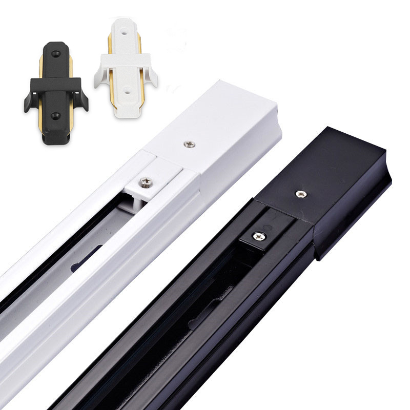 2-Wire Thick Aluminum 0.5M LED Track Rail Track Light Rail With Connectors Universal Rails Track Lighting Fixtures
