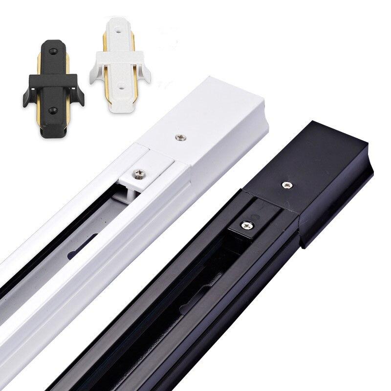 2pcs/lot 2-Wire Thick Aluminum 0.5M LED Track Rail Track Light Rail With Connectors Universal Rails Track Lighting Fixtures