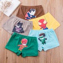 4/pcs Children's Underwear Boys Cotton Boxer Four Corners Boys Underwear Baby Kids Middle Kids Shorts 2-14 years