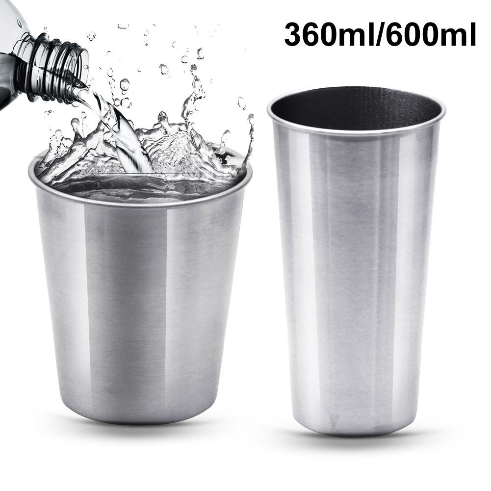 Various Specifications Stainless Steel Pint Cup Reusable Stainless Steel Glasses Tumbler Metal Drinking Glasses Cups Beer Cup