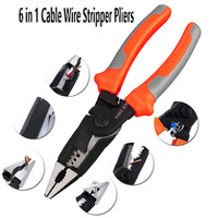 8 Inch 6 In 1 Kabel Afstriptang Cutter Crimper Automatische Stripper Elektricien Gereedschappen Zelfinstellende Striptang|Tang|Gereedschap -