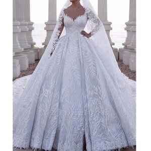 Изысканное Милое Свадебное платье из Дубая 2020, свадебные платья с узором в виде листьев и бисером, сексуальные свадебные платья без рукавов ...