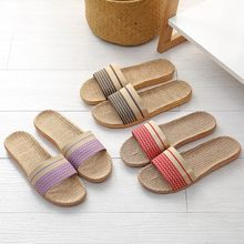 Women Summer slippers Casual Beach Shoes Woman Indoor Straw Hemp Shoes Home Linen travel slippers Flip Flops slide feminina(China)