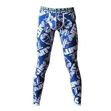 Men long johns  warm pants thin elastic mens fashion print cotton sexy underwear tight legging Bottoms