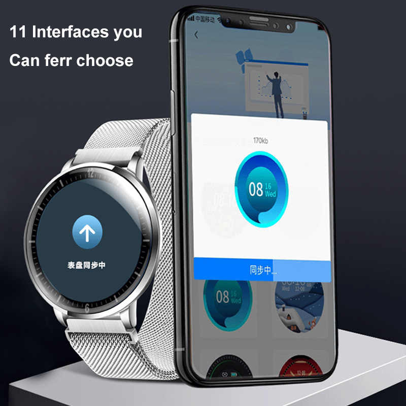 2020 Smart Horloge Side Ultradunne Full Screen Fitness Tracker Met Hartslagmeter IP68 Waterdichte Smartwatch Business Horloge