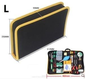 CAMMITEVER желтая кромка сумка для инструментов Электрик Холст ремонт паяльник долото рулон электрические инструменты утилита сумка карман