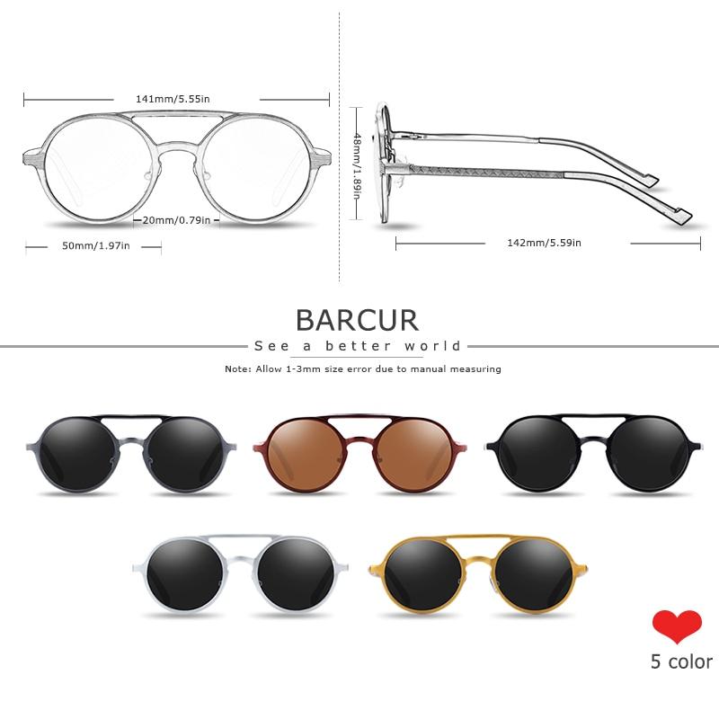 H7476d67da00c48b28cf4aeb0292f6dfcM BARCUR Hot Black Goggle Male Round Sunglasses Luxury Brand Men Glasses Retro Vintage Women Sun glasses UV400 Retro Style