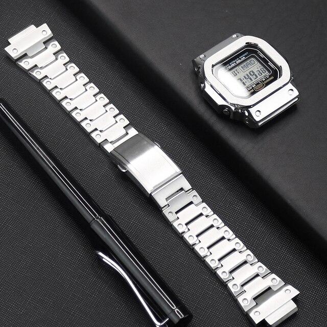 $ US $21.35 Watch Strap For Casio G-shock DW/GW 5600 5610 Watch Case 316L Stainless Steel Watch Bezel For Casio GLX-5600 G-5600-E Watch Band