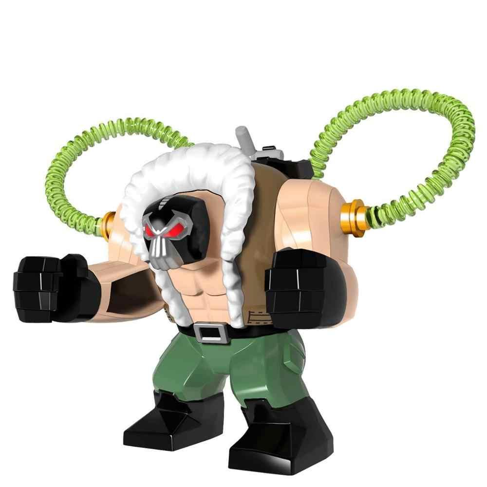 Super héros le Batman Bane attaque toxique Crocodile tueur Clayface modèle blocs de construction éclairer Figure jouets pour enfants