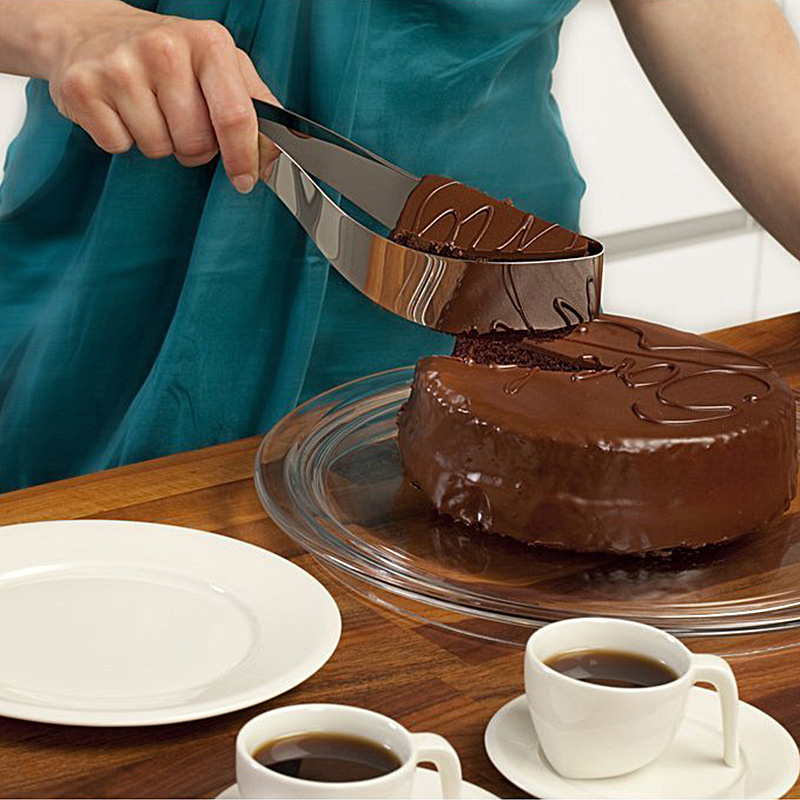 Creative Stainless Steel Cake Pie Slicer Server Cake Cutters Knife Cookie Fondant Dessert Tools Kitchen Accessories