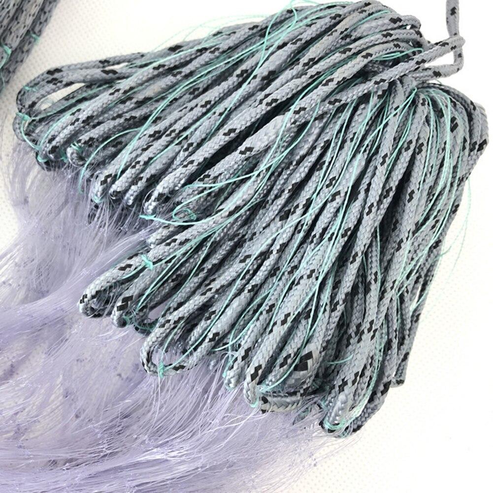 Winter Outdoor Fishing Gear Single Layer Nylon Finnish Net Fishing Net Sticky Mesh Catch Gillnet