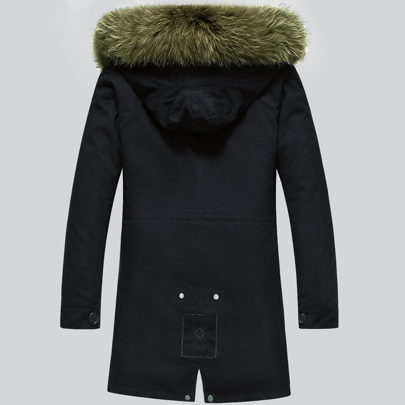 Real Coat Winter Jacket Natural Raccoon Fur Parka Men Hooded Warm Long Jackets Plus Size 5xl Veste LSY020391 MY1682