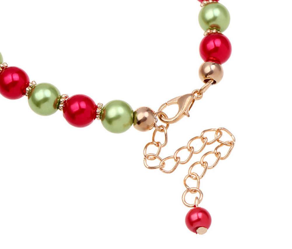 Boże narodzenie Unisex Santa Elk dynda zroszony urok bransoletka biżuteria ręczna Xmas prezent