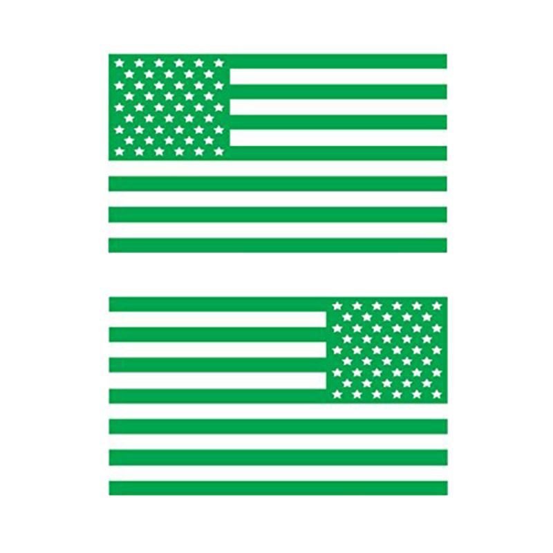 american army MAGNET Subdued BLACK /& GREEN Tactical USA Flag